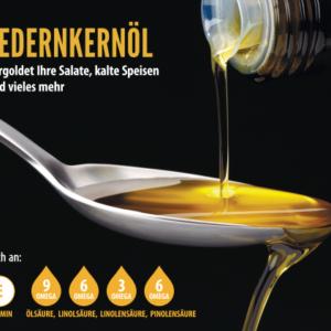 Zedernkernöl - kostlich mild - leicht nussig